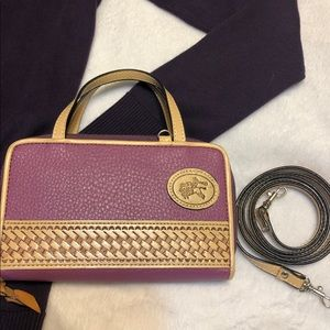 Crossbody Purple Purse with Western Emblem NWOT